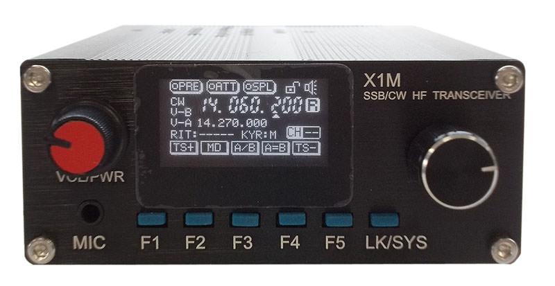 Базово-мобильный КВ трансивер XIEGU X1M SSB/CW HF PLATINUM EDITION (0,05-30МГц), 20 Вт, микрофон